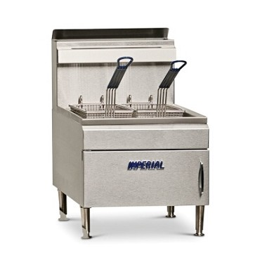 Imperial IFST-25 - Countertop Fryer, gas, 25 lb. capacity, tube fired cast iron burners
