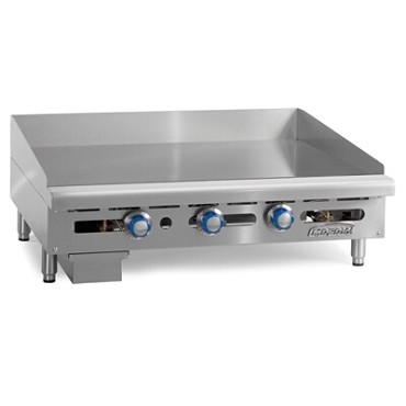 "Imperial ITG-48 - Countertop Griddle, gas, 48""W x 24""D surface, 1"" polished steel plate, (4) burners"
