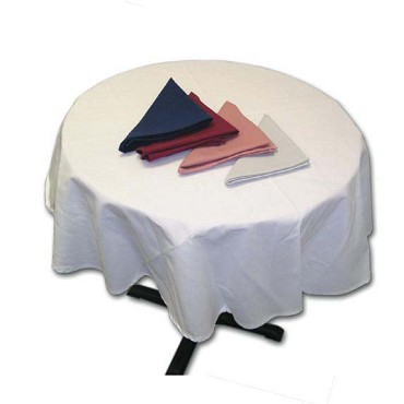 Intedge TCM90RIWH - Ivory White Round Tablecloth, 90 in.