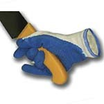 Intedge 2911 - Oyster Shucking Gloves, Pair of 2, Neutral Rubber Palm, Kevlar, One Size Fits All