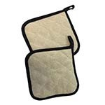 Intedge 318-8 - Two-Sided Pot Holder, Terry / Thermotex, Natural / Tan, 8