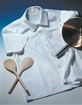 Intedge 344SH - Chef's Shirt, White, Short Sleeves, Stainless Steel Snap Buttons