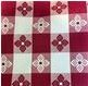 Intedge VC5252-CBU - Checkered Burgundy Square Tablecloth, 52 x 52 in.