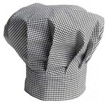 Intedge 346-HT - Houndstooth Chef's Hat, Adjustable Velcro closure, One size fits all