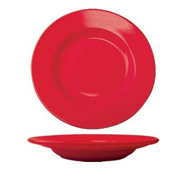 International Tableware CA-120-CR - Cancun 20 oz. 12 in. Pasta Bowl, Red (Case of 12)