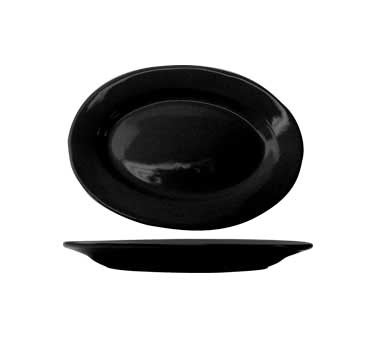 International Tableware CA-14-B - Cancun 12 1/2 in. Platter, Black (Sold 1 Dozen/Case)