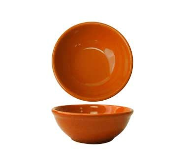 International Tableware CA-15-O - Cancun 12 1/2 oz. Oatmeal Bowl, Orange (Case of 36)