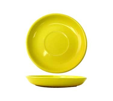 International Tableware CA-36-Y - Cancun 4-7/8 in. A.D. Saucer, Yellow (Case of 36)