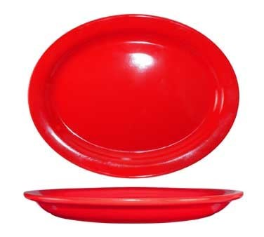 International Tableware CAN-13-CR - Cancun 11-1/2 in. Platter, Red (Sold Per Dozen)