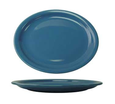 International Tableware CAN-14-LB - Cancun 13-1/4 in. Platter, Light Blue (Sold Per Dozen)