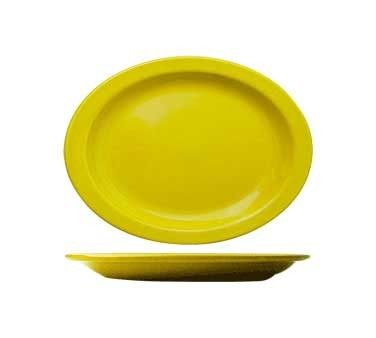 International Tableware CAN-14-Y - Cancun 13-1/4 in. Platter, Yellow (Sold Per Dozen)