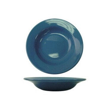International Tableware CA-120-LB - Cancun 20 oz. 12 in. Pasta Bowl, Light Blue (Case of 12)