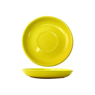 International Tableware CA-2-Y - Cancun 6 in. Saucer, Yellow (Case of 36)