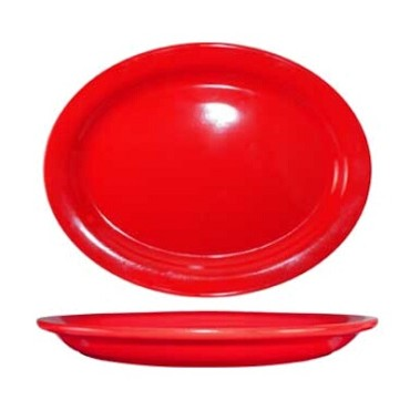International Tableware CAN-14-CR - Cancun 13-1/4 in. Platter, Red (Case of 12)
