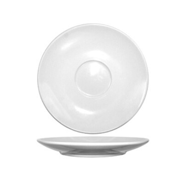 International Tableware DO-67 - Dover 6-1/2 in. Cappuccino Saucer, European White (Case of 36)