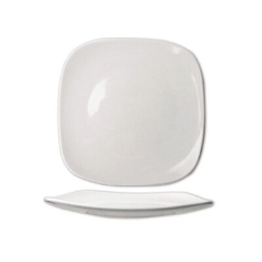 International Tableware QP-9 - 9.8 in. Square Plate, White Porcelain (Case of 24)