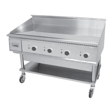 "Keating 48X30FT-E - Miraclean Griddle, Elec., 48""W x 24""D x 3/4"" thick chrome finis"