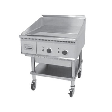 "Keating 36X30-E - Miraclean Griddle, Elec., 33""W x24""D x 3/4"" thick chrome finish"