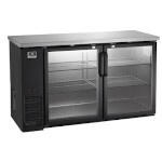 Kelvinator / Electrolux KCBB60GB - Back Bar Refrigerator, Two Glass Doors