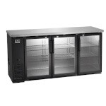 Kelvinator / Electrolux KCBB72GB - Back Bar Refrigerator, Three Glass Doors