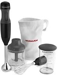 KitchenAid KHB2351OB - 8 in. Onyx Black Hand Blender, 3 Speed