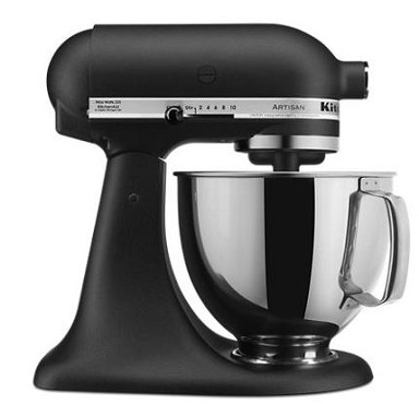 KitchenAid KSM150PSBK - 5 qt. Tilt-Head Stand Mixer, Cast Iron Black