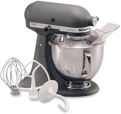 KitchenAid KSM150PSGR - Grey 5 Qt. Artisan Series w/ Pouring Shield