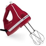 KitchenAid KHM512ER - 5 speed ultra power, 5 speed, hand mixer, Empire Red in color. T
