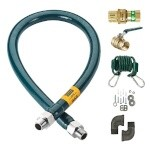"Krowne M10024K - Moveable Gas Connection Kit, 1"" I.D., 24"" long, quick disconnect"