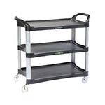 Lakeside 2512 - Utility Cart, (3) 29.5 x 16.75in. Shelves, 500 lb. cap., Charcoal