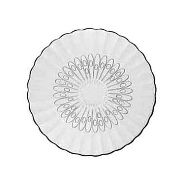 "Libbey 15500 - Bouquet Glass Salad Plate, 7-5/8"" (Case of 36)"