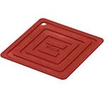 Lodge AS6S41 - Square Red Silicone Pot Holder, 5-7/8 x 5-7/8 in.