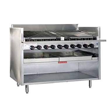 MagiKitch'n FM-RMB-660CR - Charbroiler, floor model, gas, 60 inch, cast iron radiants