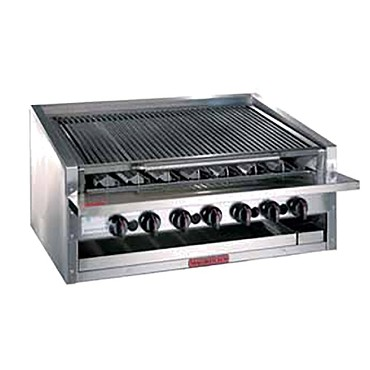 MagiKitch'n APM-RMB-672CR - Countertop Charbroiler, gas, 72 inch, cast iron radiants