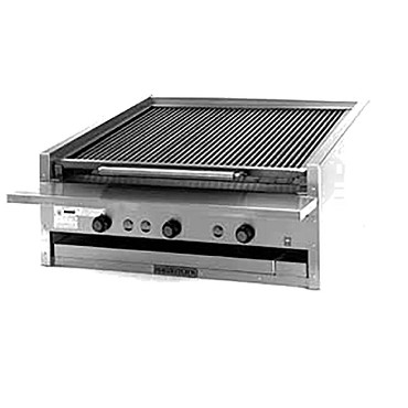 "Magikitch'n APM-SMB-636 - Coal Charbroiler, counter model, gas, 36"" wide, 13"" high, free f"
