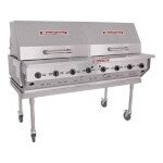 MagiKitch'n LPAGA-60-SS - Magicater Portable Gas Grill, 60 inch, stainless steel, tank cart