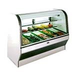 Marc Refrigeration HS-8R - Meat/Deli Case, Curved Glass Front, Remote