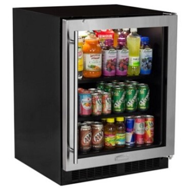 "Marvel MA24BCG1RS - 24"" Low Profile Beverage Center, Stainless Glass Door, Right Hinge"