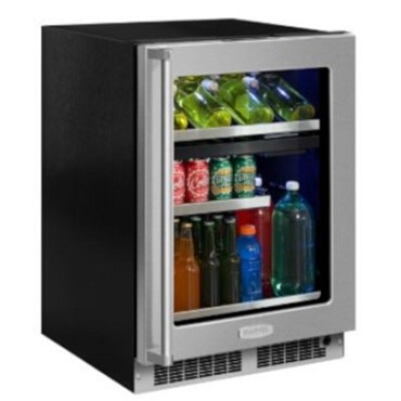 "Marvel MP24WBG4RS - 24"" Dual Zone Beverage Center, Stainless Frame Door, Right Hinge"