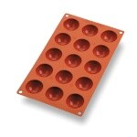 Matfer 257901 - Mini Half Sphere Mold, 15 per sheet, 1-3/4