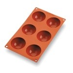 Matfer 257904 - Half Sphere Mold, 6 per sheet, 2-3/4