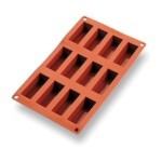 Matfer 257985 - Mini Cake Mold, 12 per sheet, 2-3/4
