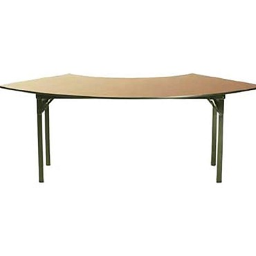 Maywood DLORIG9036CR6 - Folding Table, crescent, laminated top, 90 x 36 x 30 inch