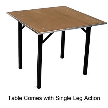 "Maywood DPORIG42SQ - Folding Table, 42"" square x 30"", plywood top"