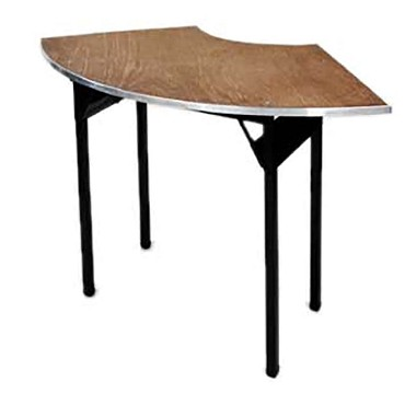 Maywood DPORIG9630CR6 - Folding Table, crescent, plywood top, 96 x 30 x 30 inch