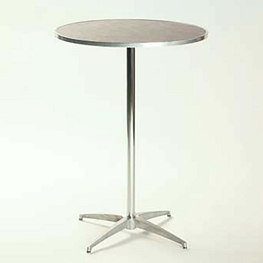"Maywood ML24RDPED3042 - Pedestal Table, 24"" round top, laminated top, adjustable"