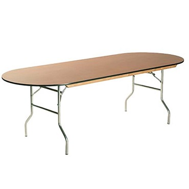 Maywood ML3096RACE - Folding Table, race track, laminated top, 96 x 30 x 30 inch