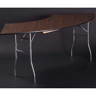 Maywood ML7236CR4 - Folding Table, crescent, laminated top, 72 x 36 x 30 inch