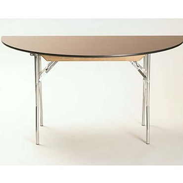 Maywood ML42HR - Folding Table, half-round, laminated top, 42 x 21 x 30 inch
