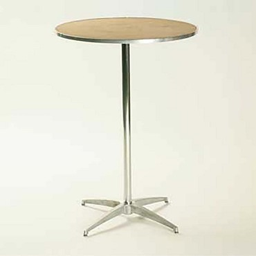"Maywood MP24RDPED3042 - Pedestal Table, 24"" round top, plywood top, adjustable"